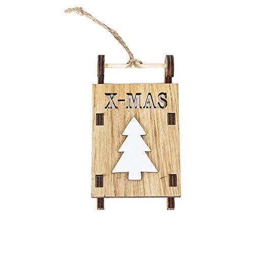 Noel Décoration Noël Santa en Bois Formes Ornements Artisanat Cadeaux de Noël