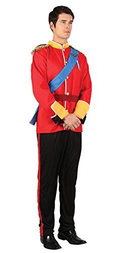 Imagen de los adultos de disfraces vestido de soldado de juguete de lujo para hombre hermoso traje príncipe azul  112cm alternativa