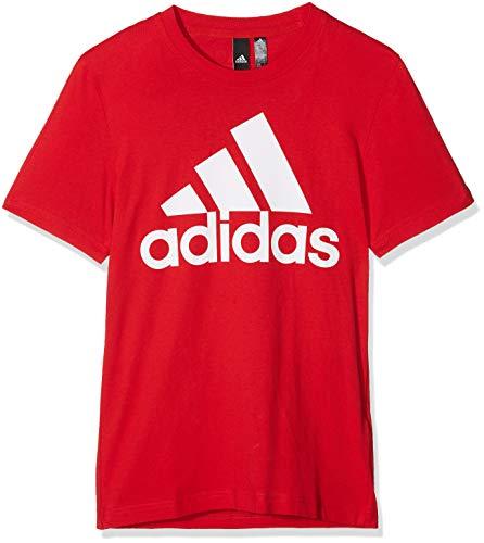 adidas Herren ESS Linear Tee Pullunder, Rot (Scarlet/White Scarlet/White), X-Large