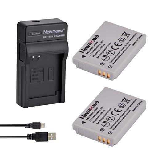 Newmowa Remplacement Batterie NB-5L (2) et Chargeur Micro USB Portable Kit pour Canon NB-5L et Canon PowerShot S100, S110 is, SD700 is, SD800 is, SD800 is, SD850 is, SD870 is