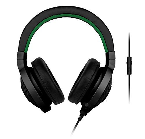 Razer Kraken Pro Headset Stereophonisch Kopfband Schwarz, Grün mit Mikrofon–Kopfhörer mit Mikrofon (PC/Spiele, Stereophonisch, Kopfband, Schwarz, Grün, 0.05W, verkabelt)