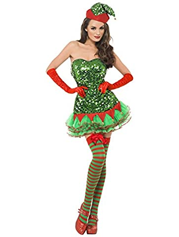 Red & Green Candy Stripe Christmas Opaque Thigh High Hold Ups with Bows Costume Accessories…