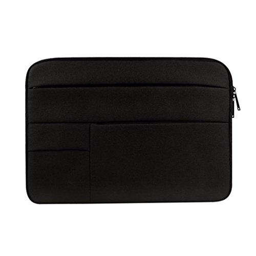 Yuncai Notebooktasche 11.6-15.6 Zoll Multifunktional Wasserdicht Stoßfest Laptop Handtasche Für Macbook Schwarz 15.6Inch