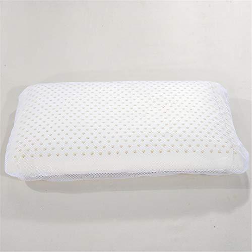KGGOPREAn Naturlatex-Brot-Kissen-Erwachsen-weißes Gedächtnis-Nackenkissen-Schlafzimmer-Rest-Schlafenkissen White 40x60x10cm
