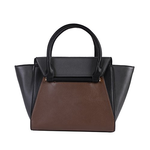 Borsa A Tracolla Da Donna Damara® Fashion Borsa Da Spesa Spaziosa Shopper Marrone