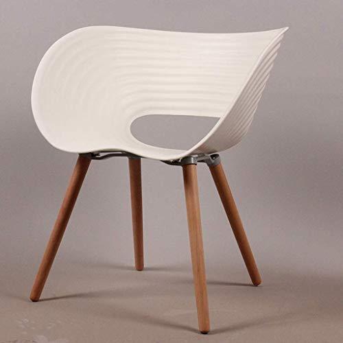 FAMILI DA Stuhl Freizeit Stuhl Fashion Design Massivholz Stuhl Shell Stuhl zu diskutieren Rezeption Bürostuhl fünf Farben Stuhl (Farbe: rot) - Weiß - Rezeption Shell