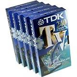 TDK Cassette VHS M 240, 240 min, pack de 5
