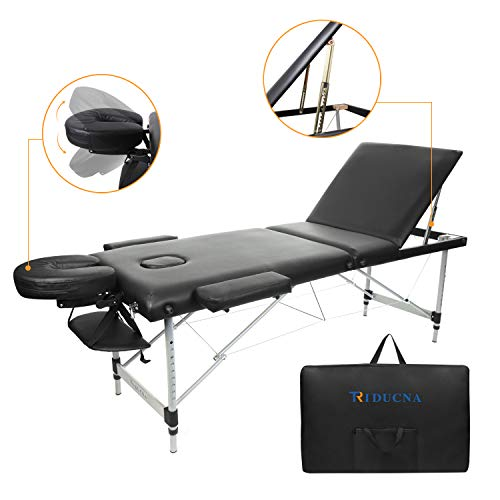 Table de Massage Pliante Professionnel Cosmétique Lit de Massage Portable Table Canapé - 3 Zones...