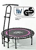 """Fitnesstrampolin mit Haltegriff """"Cacau"""" von JOKA FIT Trampolin pink mit Trainings DVD"""
