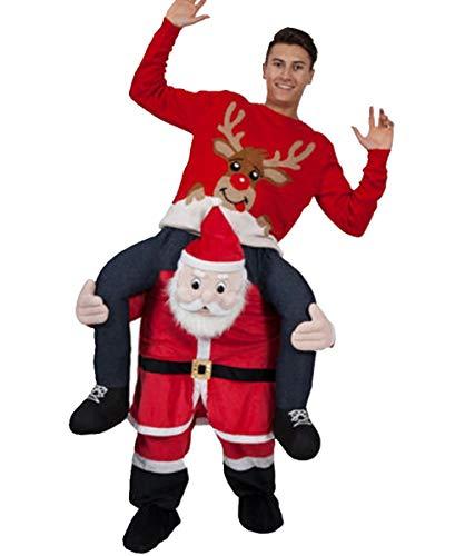 Bärtigen Kostüm Einfach - OMUUTR Unisex Hosen Jumpsuit Huckepack Tragen Witzig Kostüm Cosplay Plüsch Inflatable Tier-Kostüm Carnival Funny Clothes Mit selbst füllen Beine Party Oktoberfest Halloween Weihnachten