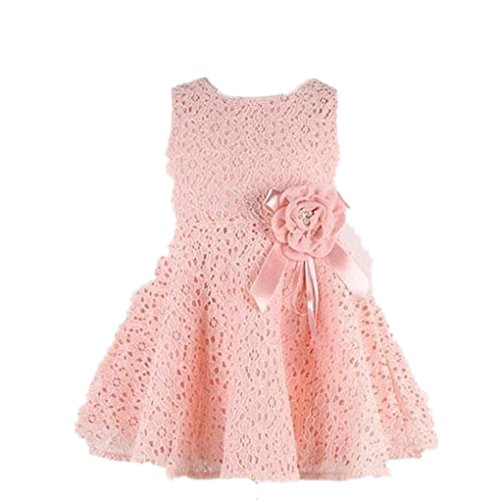 JYJMGirls Kids Full Lace Floral One Piece Dress Child Princess Party Dress (Größe: 100, (Ideen Monate Kostüm Alten 8 Halloween)