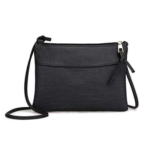 Smrbeauty borse a tracolla, crossbody pochette a busta donna ragazza, retrò borsa a mano pacchetto postino tracolla borsetta borsa del telefono sacchetto della moneta borsetta (nero)