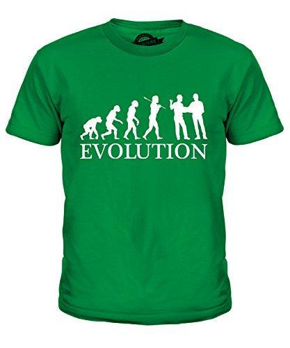 Candymix Baumanagement Bauplaner Evolution des Menschen Unisex Jungen Mädchen T Shirt, Größe 6 Jahre, Farbe Grün