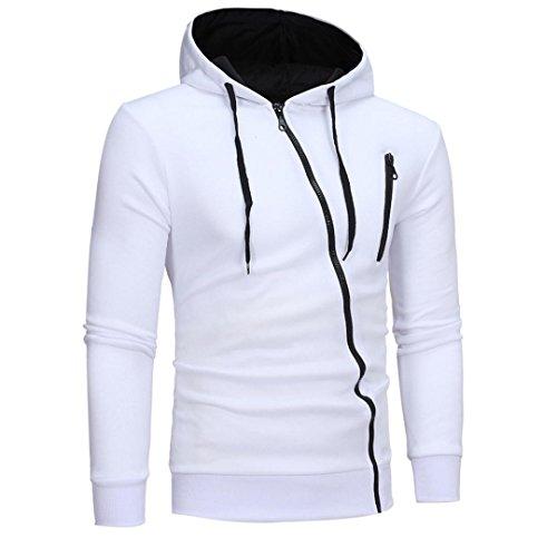 KanLin Herren Kapuzenpullover Hooded Sweatshirt Crew Neck Mit Kapuze Sweatshirt (Weiß, XL) (Hooded Champion 50 Sweatshirt)