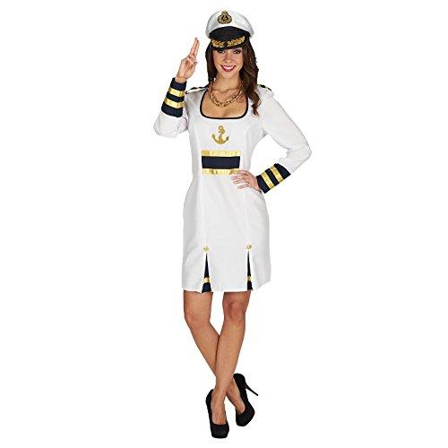 Miss Kapitän Kleid Kostüm Damen zum Karneval weiß - 48/50