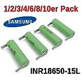 Samsung INR18650-15L Akku mit U Lötfahne 1500mAh für Bosch IXO/ISIO