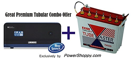 Luminous Zelio 1100va + Exide 150AH Tubular Battery Great Premium Combo offer!!