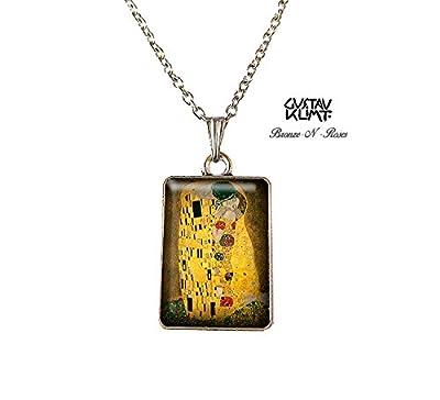 Collier Le baiser de gustav Klimt