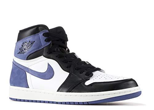 Nike Air Jordan 1 Retro High Og - Summit White/Blue Moon-Black - Basketball-Schuhe-Herren, Größe:11