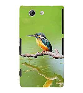 Bird, Green, Sparrow, Magnificent Pattern, Printed Designer Back Case Cover for Sony Xperia Z4 Compact :: Sony Xperia Z4 Mini