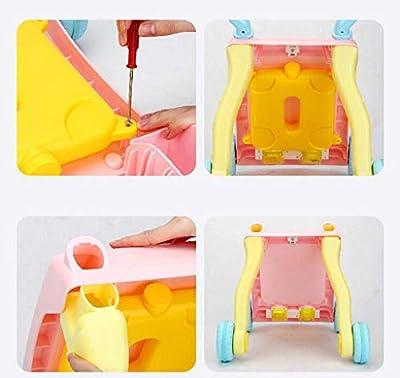 Aktivität Walker Baby Walker Baby Kleinkind Walker Baby Walker Trolley Frühes Lernen Übungen Körper Multifunktions-Walker mit Musik
