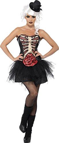 Smiffys, Damen Grotesk Burlesque Kostüm, Korsett mit Latex-Brustkrob und Darm, Größe: M, (Burlesque Kostüm Ideen)