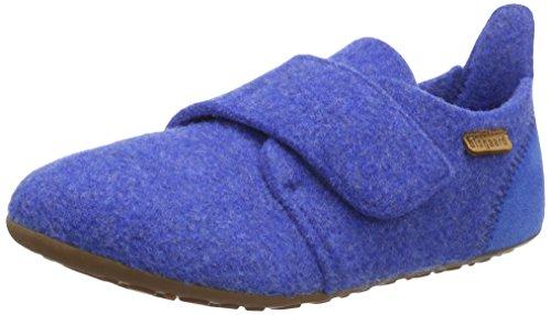 Bisgaard Unisex-Kinder Hausschuhe-Wool Velcro Slipper, Blau (26 Cobalt), 23 EU