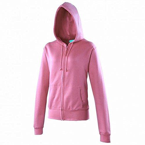 Awdis - Sweatshirt à capuche et fermeture Éclair - Femme Rouge - Fire Red
