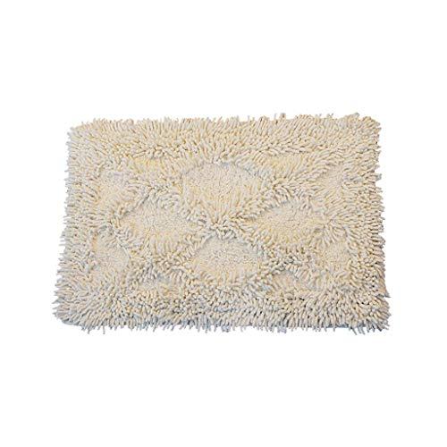 LAAN Badematte Badezimmerteppich Anti-Rutsch-absorbierende Luxus Soft Fluffy Mikrofaser 40x60 cm - Baumwolle (Farbe : Beige Square)