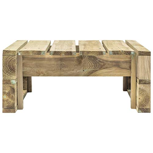 Tidyard Garden Pallet Wood Ottoman Seat Euro-pallet Pallet Furniture Lounge for Indoor/Outdoor 60 x 60 x 25 cm