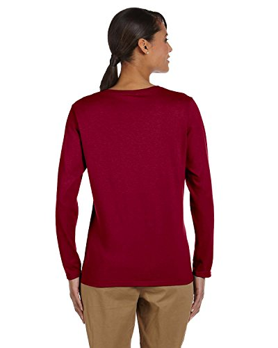 Gildan Heavy Cotton T-Shirt Long Sleeve 5,3 Unzen Kardinalrot