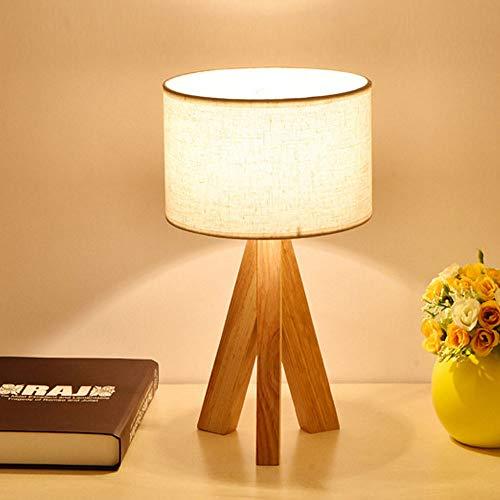 Lámpara mesa tela/de madera original japonesa/dormitorio/sala