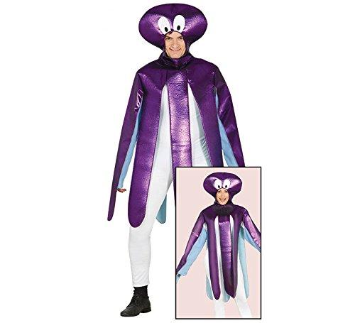 Antarktis Kinder Kostüm - Krakenkostüm Tintenfisch Oktopus für Damen und Herren Krake Tierkostüm Kraken Meer Zoo Fisch Gr. M/L, Größe:L