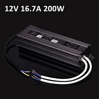 200W étanche ip67 LED pilote l'alimentation électrique 170-250v 12v pour bandes de LEDs