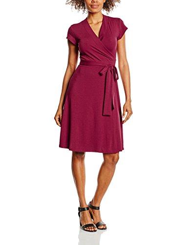 Hot Squash Damen Kleid Cap Sleeve Wrap, Braun (Burgundy), 42 (Herstellergröße: 14)