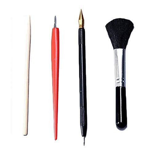 4 STÜCKE Malerei Zeichnung Scratch Arts Tools Set mit Stick Scraper Scratch Pen Schwarz Pinsel für Scratch Sketch Art Malerei Papiere Blätter Boards -