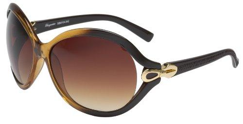 Schöne Marken Sonnenbrille für Damen von Burgmeister mit 100% UV Schutz | Sonnenbrille mit stabiler Polycarbonatfassung, hochwertigem Brillenetui, Brillenbeutel und 2 Jahren Garantie | SBM104-342