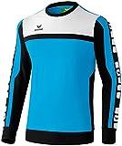 Erima Herren Sweatshirt Classic 5-C, curacao/schwarz/weiß, S