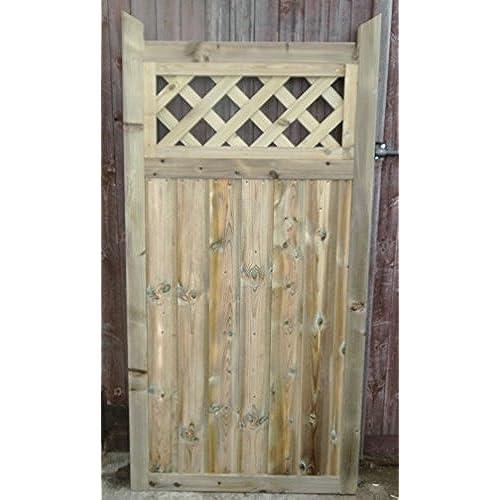 Wooden Garden Gate Hand Made Bespoke Garden Gates (83cm (W) X 180cmcm(H) X  5cm(D))
