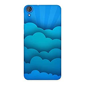 NEO WORLD Premium Clouds Pattern Back Case Cover for HTC Desire 820s