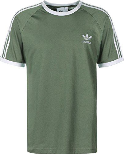 Adidas 3 stripes t-shirt trace green