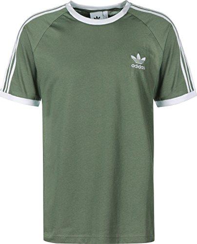 Adidas 3-stripes tee–maglietta, uomo, verde (vertra)