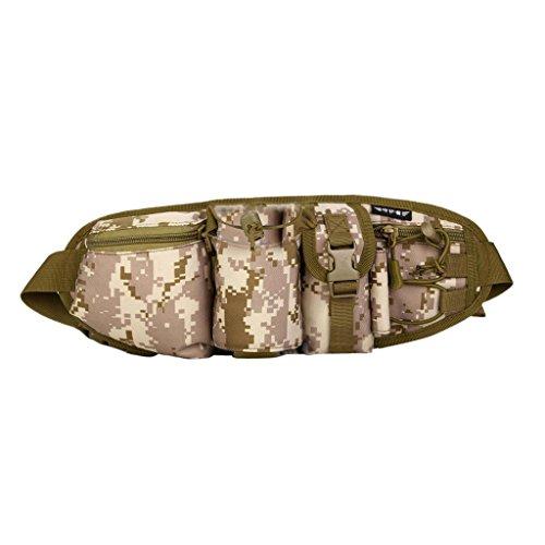 Sharplace Borsa Marsupio Tracolla Sacchetto Con Cinghia Pacchetto Vita Tascabile Per Viaggio Alpinismo Outdoor - Nero Deserto digitale