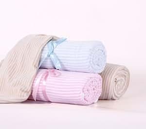 rosa babydecke kuscheldecke strickdecke velour baby und schlafdecke aus 100 baumwolle kba. Black Bedroom Furniture Sets. Home Design Ideas