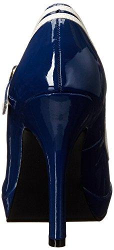Pleaser Secret-15, Mary Jane femme Noir (Blue Patent)