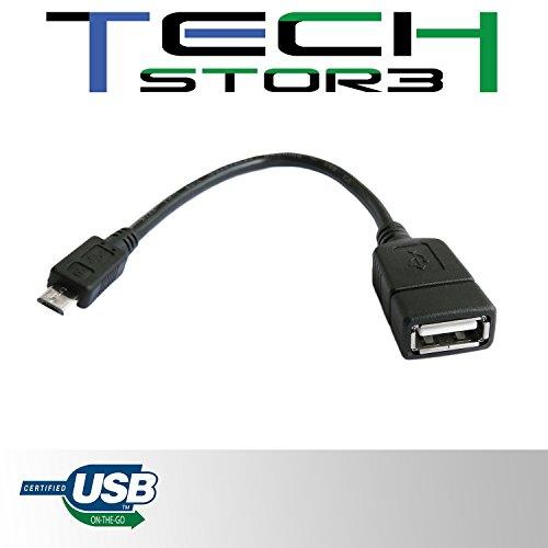 Tech Stor3 - Cavo Adattatore Micro USB OTG Per Huawei P8 per il trasferimento diretto di foto, video e altri contenuti su un flash drive USB senza PC
