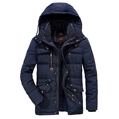 Luckycat Herren Winter Samt verdickt Plus Größe gepolsterte Winddichte warme Baumwolle gepolsterten Mantel Mode 2018