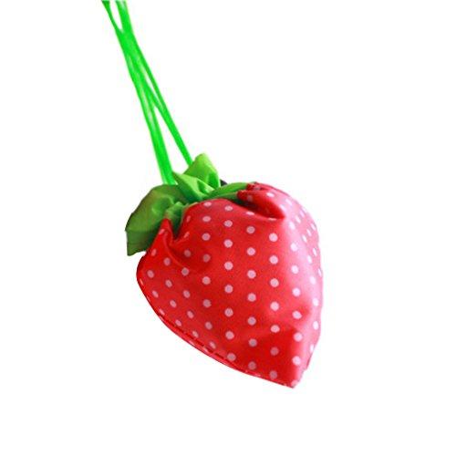 Jinzuke Erdbeere Folding Wiederverwendbare Compact Eco Recycling verwenden Einkaufstasche