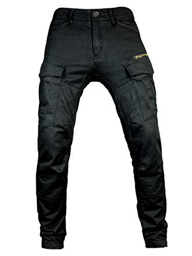 John Doe Stroker Cargo XTM - Black | Motorradhose mit Kevlar | XTM Made with Dupont Kevlar | Einsetzbare Protektoren | Atmungsaktiv | Motorrad Cargo Hose | Hose mit Seitentaschen