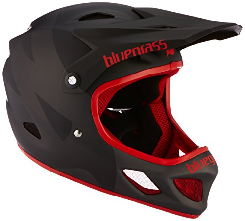 Bluegrass Explicit Helm, Matt Black/Red, 56-58 cm